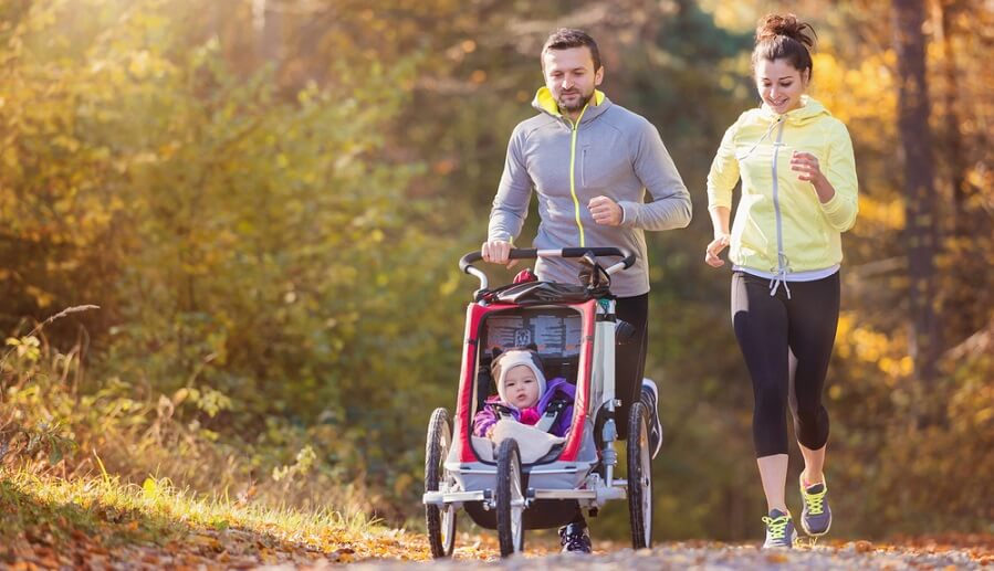 jogga med baby i joggingvagn