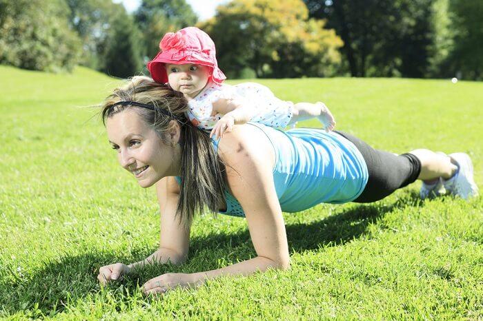 skoj att träna med baby